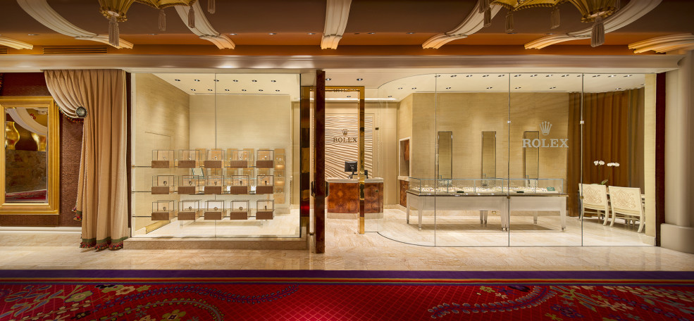 Interior of Rolex store at Wynn Las Vegas.