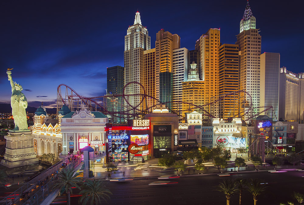 Dusk image of New York New york Hotel & Casino