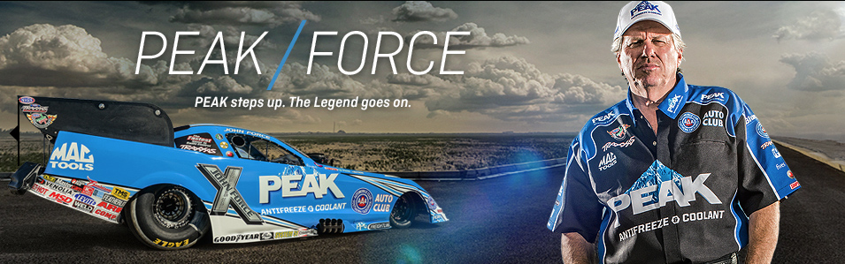 John force with Peak funny car